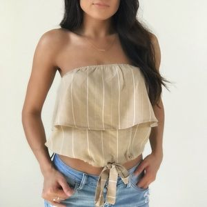 Tops - NEW // strapless tied top